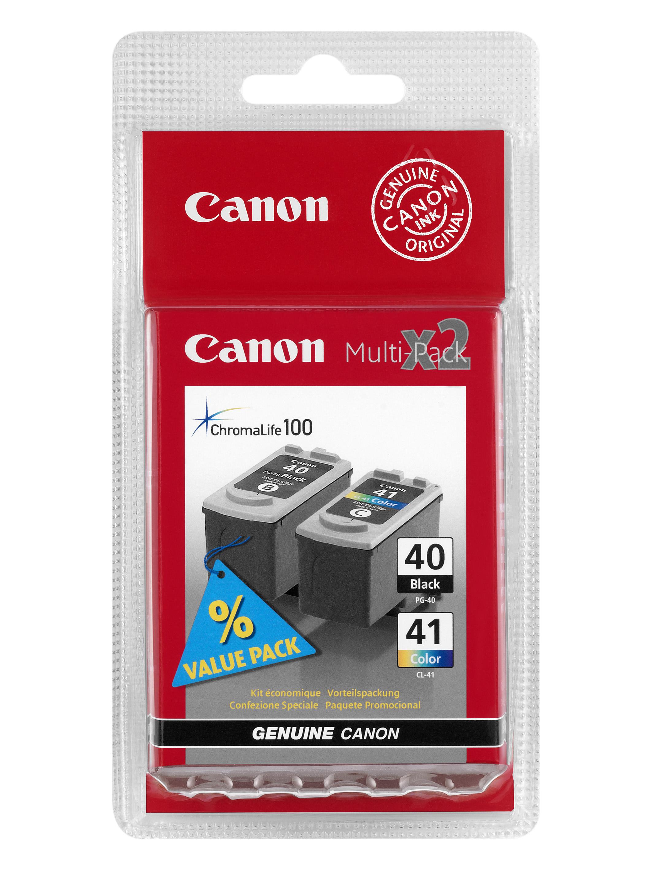 Canon PG-40 / CL-41 multipack Originál (black + color) Originální sada - černá a barevná náplň Canon PG-40 a CL-41