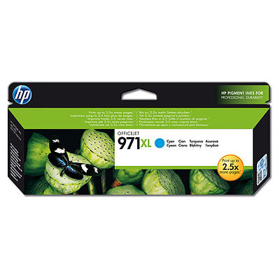 HP CN626AE (HP 971xl) cyan original Originální cartridge HP CN 626 AE (HP 971xl) - azurová
