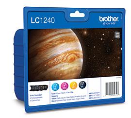 Brother LC1240BkCMY multipack original Originální cartridge Brother LC 1240 BkCMY - černá/azurová/purpurová/žlutá
