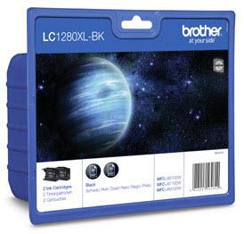 Brother LC-1280xlBk twinpack original Originální cartridge Brother LC 1280 xlBK - černá 2x