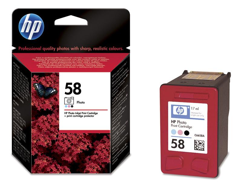 HP 58 (C6658AE) color Original Originální cartridge HP 58 (C6658 AE) - barevná