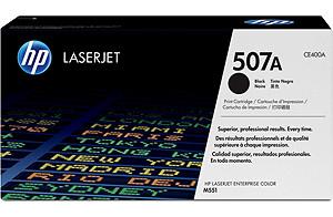 HP CE400A (HP 507A) black Original Originální cartridge HP CE 400A (HP507A) - černá