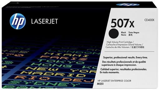 HP CE400X (HP 507X) black Original Originální cartridge HP CE 400X (HP507X) - černá