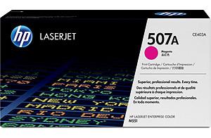 HP CE403A (HP 507A) magenta Original Originální cartridge HP CE 403A (HP507A) - purpurová