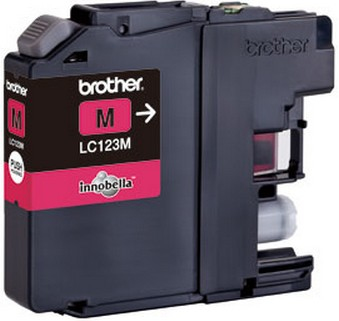 Brother LC-123M magenta Original Originální cartridge Brother LC-123 M - purpurová