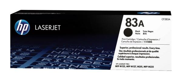 HP CF283A (HP 83A) black originál Originální toner HP CF283A (HP-83A) - černý