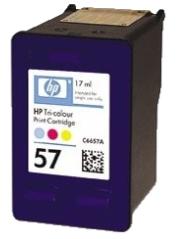 HP 57 (C6657AE) color - renovace Repasování vaší prázdné cartridge HP57 (C6657A)