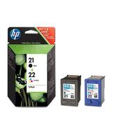 HP 21 + HP 22 (C9351AE + C9352AE) - black + color original Originální cartridge HP-21 + HP-22 (C9351AE + C9352AE) - černá + barevná