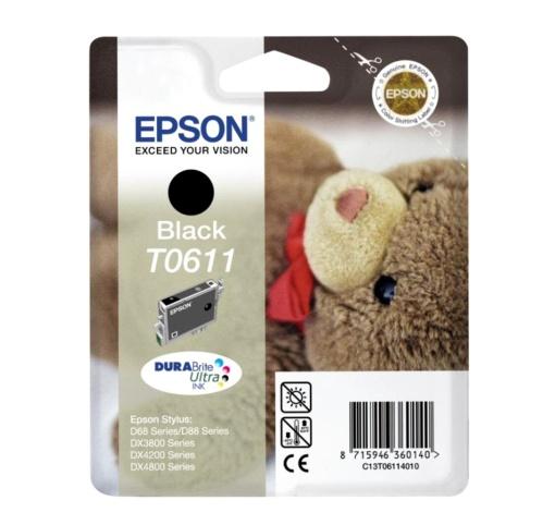 Epson T0611 black Original Originální cartridge Epson T 0611 - černá