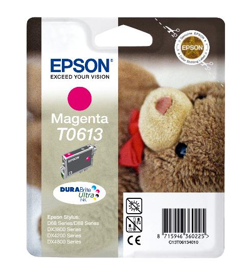 Epson T0613 magenta Original Originální cartridge Epson T 0613 - purpurová