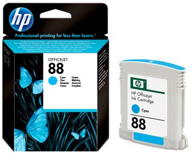 HP 88 (C9386AE) cyan Originál Originální cartridge HP88 (C9386A) - azurová