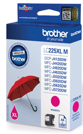 Brother LC-225XLM - magenta original Originální inkoust Brother LC225XLM - purpurový