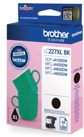 Brother LC-227XLBK - black original Originální inkoust Brother LC227XLBK - černý