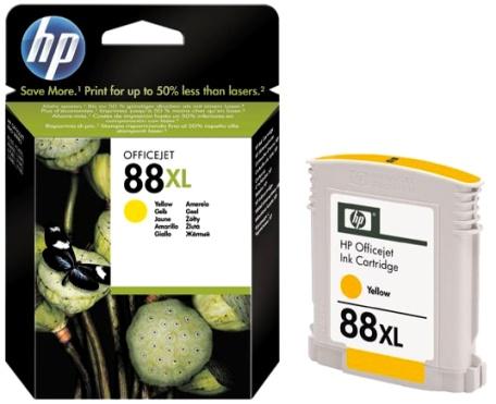 HP 88 XL (C9393AE) yellow Originál Originální cartridge HP 88xl (C9393A) - žlutá