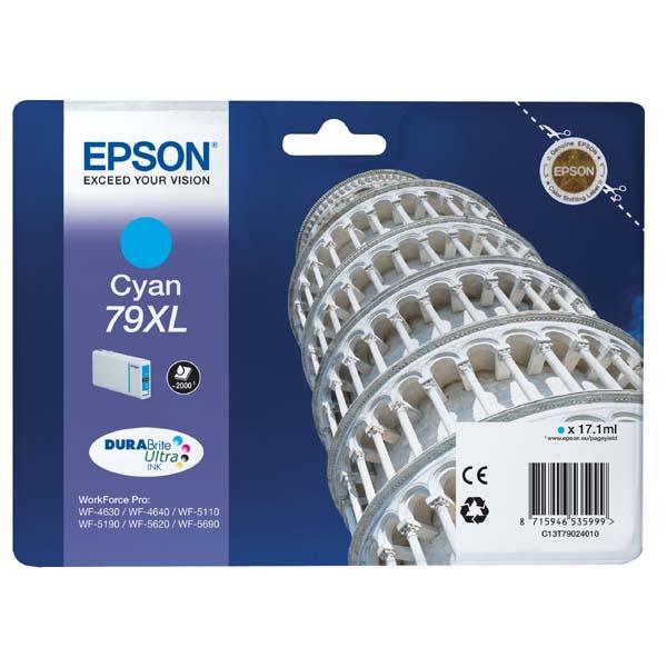 Epson 79xl (C13T79024010) cyan original Originální cartridge Epson 79xl - azurová