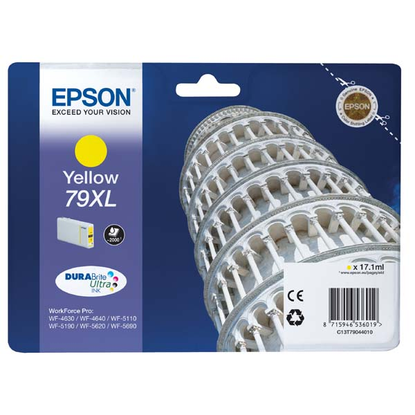 Epson 79xl (C13T79044010) yellow original Originální cartridge Epson 79xl - žlutá