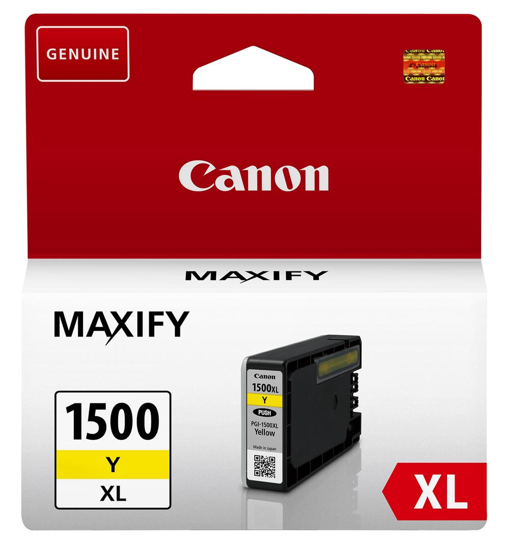 Canon PGI-1500xl yellow Originální cartridge Canon PGI1500 xl - žlutá