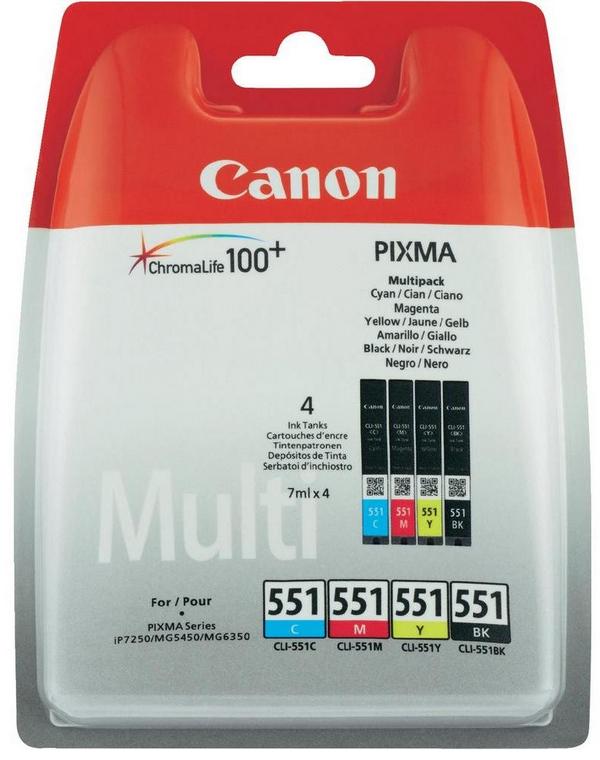 Canon CLI-551 C/M/Y/Bk multipack - Original Originální cartridge Canon CLI551 - sada 4 barev
