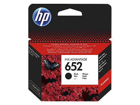 HP 652 black (F6V25AE) original Originální cartridge HP 652 - černá