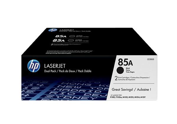 HP CE285AD (HP 85AD) black original Originální toner HP CE 285A - dvojité balení