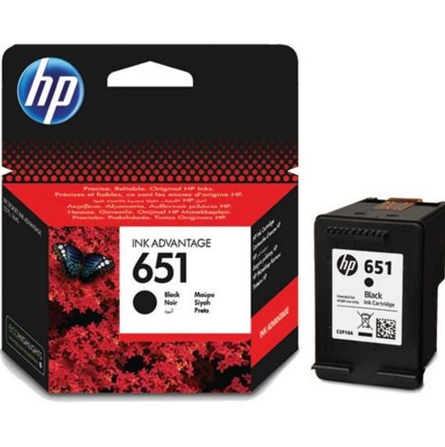 HP 651 (C2P10AE) black original Originální cartridge HP651 - černá