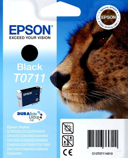 Epson T0711 black Originál Originální náplň Epson T 0711 - černá