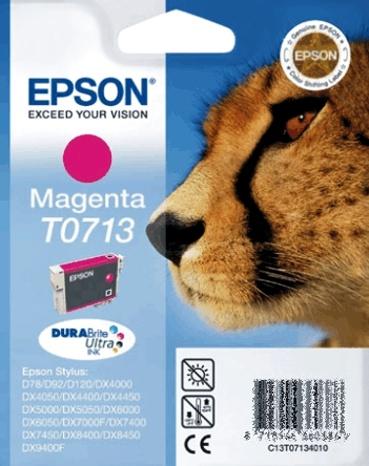 Epson T0713 magenta Originál Originální náplň Epson T 0713 - purpurová