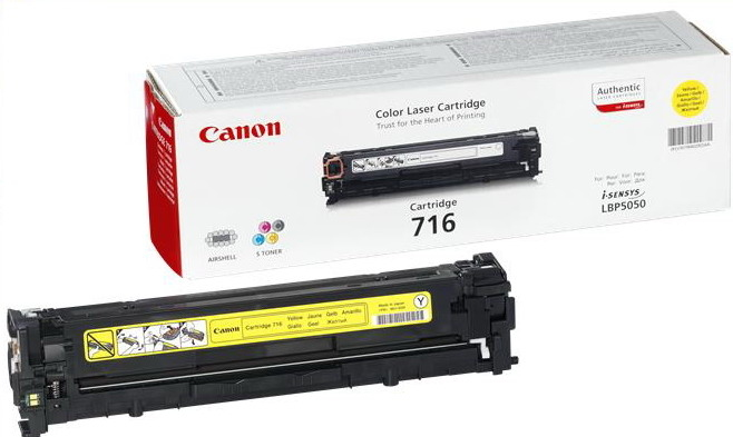 Canon CRG-716Y yellow Originál Originální cartridge Canon CRG716 yellow - žlutá