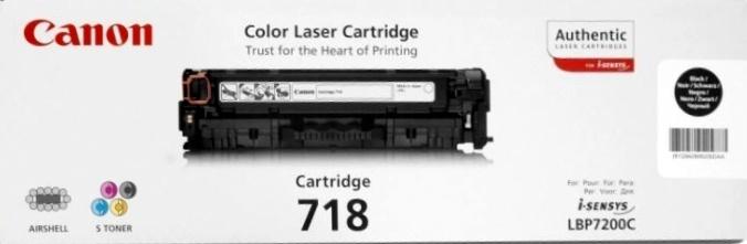 Canon CRG-718Bk black Originál Originální cartridge Canon CRG718 black - černá