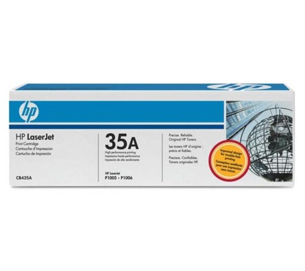 HP CB435A (35A) black Originál Originální cartirdge HP CB-435A (35A) - černá