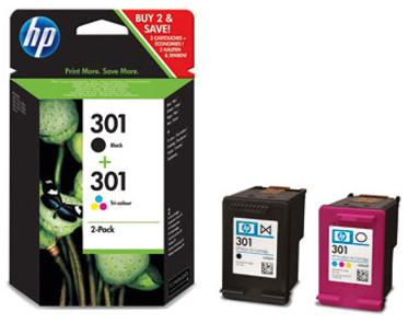HP 301 - CR340EE (HP CH561EE + HP CH562EE) MultiPack Originál Originální sada černá + barevná náplň HP301 - CR340 EE (CH561EE + CH562EE)