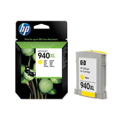 HP C4909AE (HP 940 XL) yellow Originál Originální cartridge HP C4909 AE (HP940xl) - žlutá