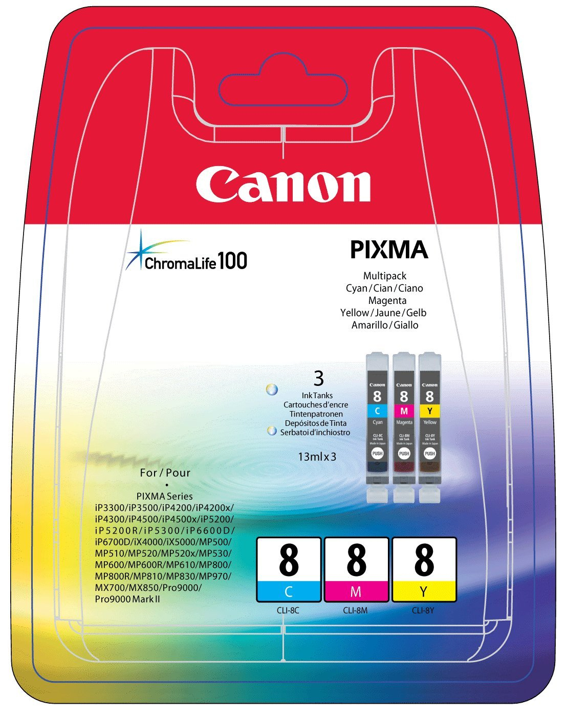 Canon CLI-8 C/M/Y Originál Originální sada náplní CLI8CMY