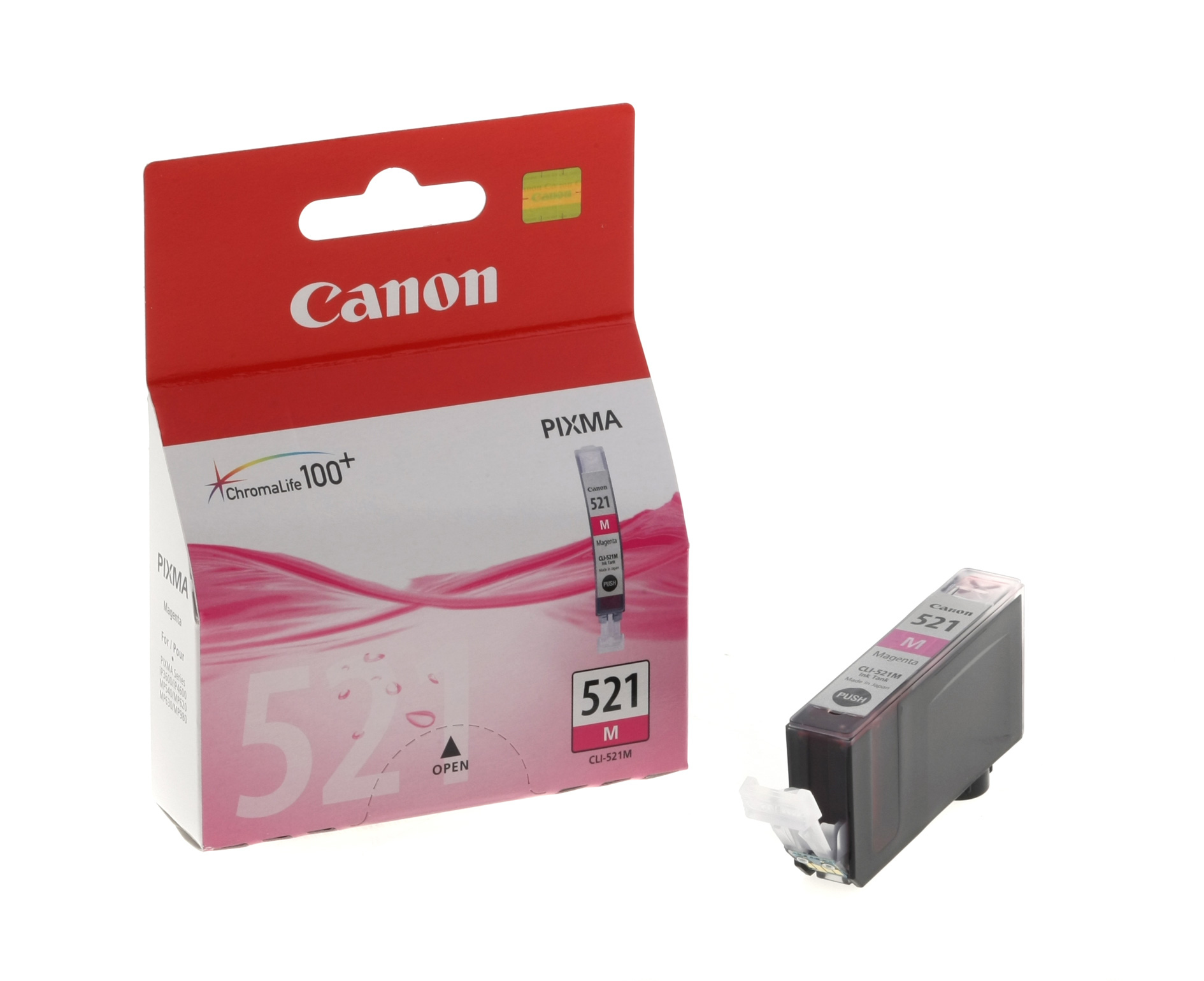 Canon CLI-521M magenta - Originál Originální náplň Canon CLI521M - purpurová