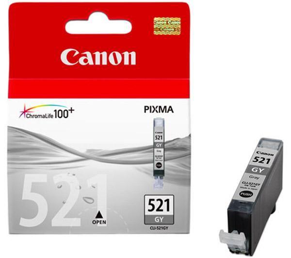 Canon CLI-521GY grey - Originál Originální náplň Canon CLI521GY - šedá