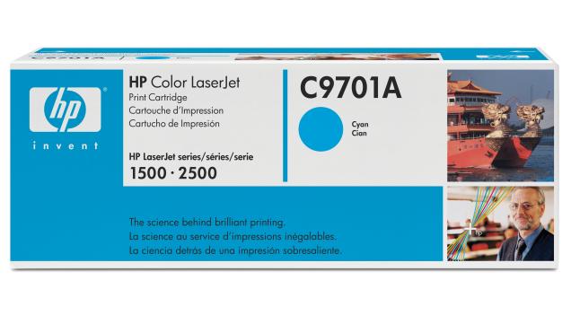 HP C9701A (HP 121A) cyan Originál Originální cartridge HP C 9701A - azurová