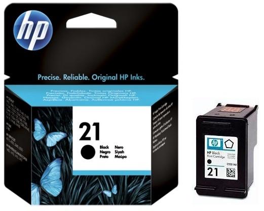 HP 21 (C9351AE) black original Originální černá náplň HP21