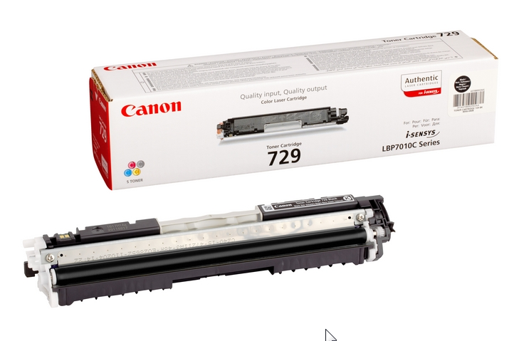Canon CRG-729Bk black Originál Originální Canon cartridge 729 - černá