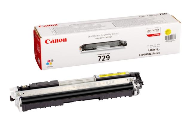 Canon CRG-729 Y yellow Originál Originální Canon cartridge 729 - žlutá
