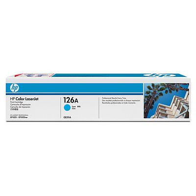 HP CE311A (HP 126A) cyan Originál Originální cartridge HP-CE311A (HP126A) - azurová