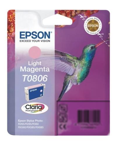 Epson T0806 light magenta Originál Originální cartridge Epson T0806 - světlá purpurová