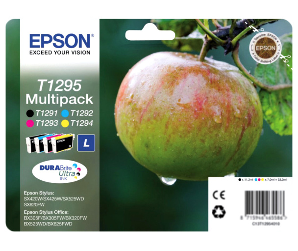 Epson T1295 multipack (BkCMY) Originál Originální cartridge Epson T1295 - sada (BCMY)
