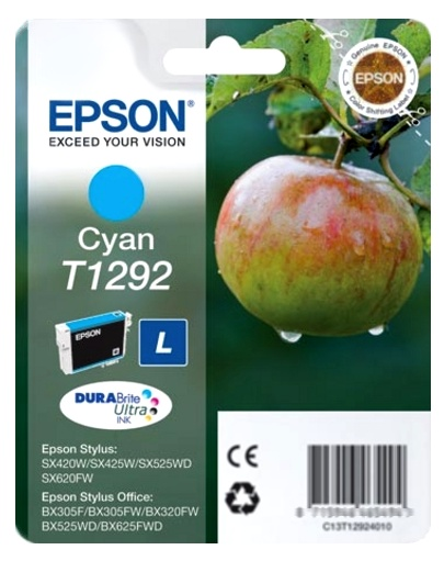 Epson T1292 cyan Originál Originální cartridge Epson T1292 - azurová
