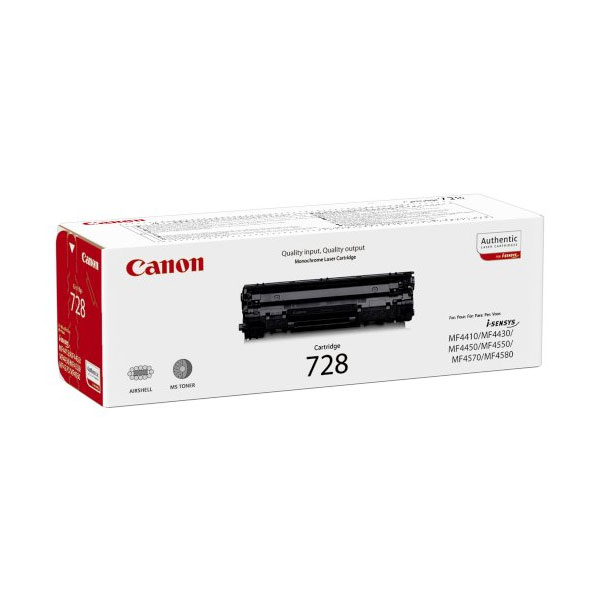 Canon CRG-728 black Originál Originální cartridge Canon CRG728 - černá