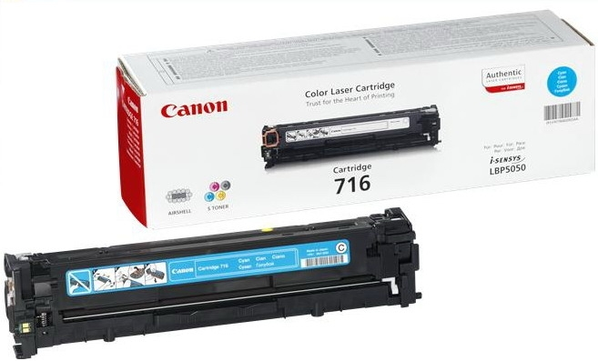 Canon CRG-716C cyan Originál Originální cartridge Canon CRG716 cyan - azurová