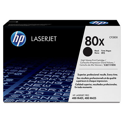 HP CF280X (HP 80X) black Originál Originální cartridge HP CF-280X (HP 80X) - černá