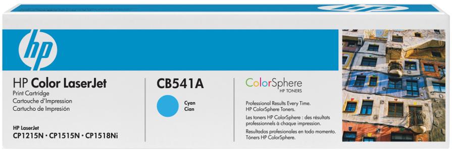 HP CB541A (HP 125A) cyan Originál Originální cartridge HP CB 541A (HP125A) - azurová