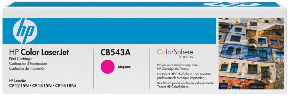 HP CB543A (HP 125A) magenta Originál Originální cartridge HP CB 543A (HP125A) - purpurová