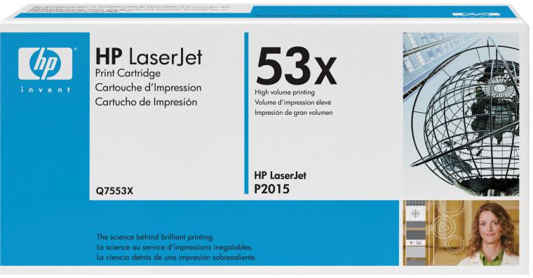 HP Q7553X (HP 53X) black Originál Originální cartridge HP Q7553X (HP53X) - černá