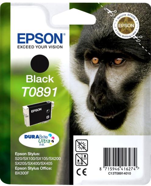 Epson T0891 black Originál Originální cartridge Epson T0891 - černá